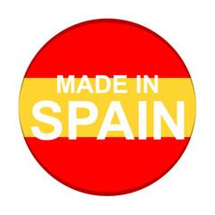Icono texto MADE IN SPAIN redondo