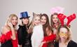 Leinwanddruck Bild - Gruppe Frauen machen Party