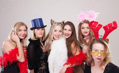 Leinwanddruck Bild Gruppe Frauen machen Party