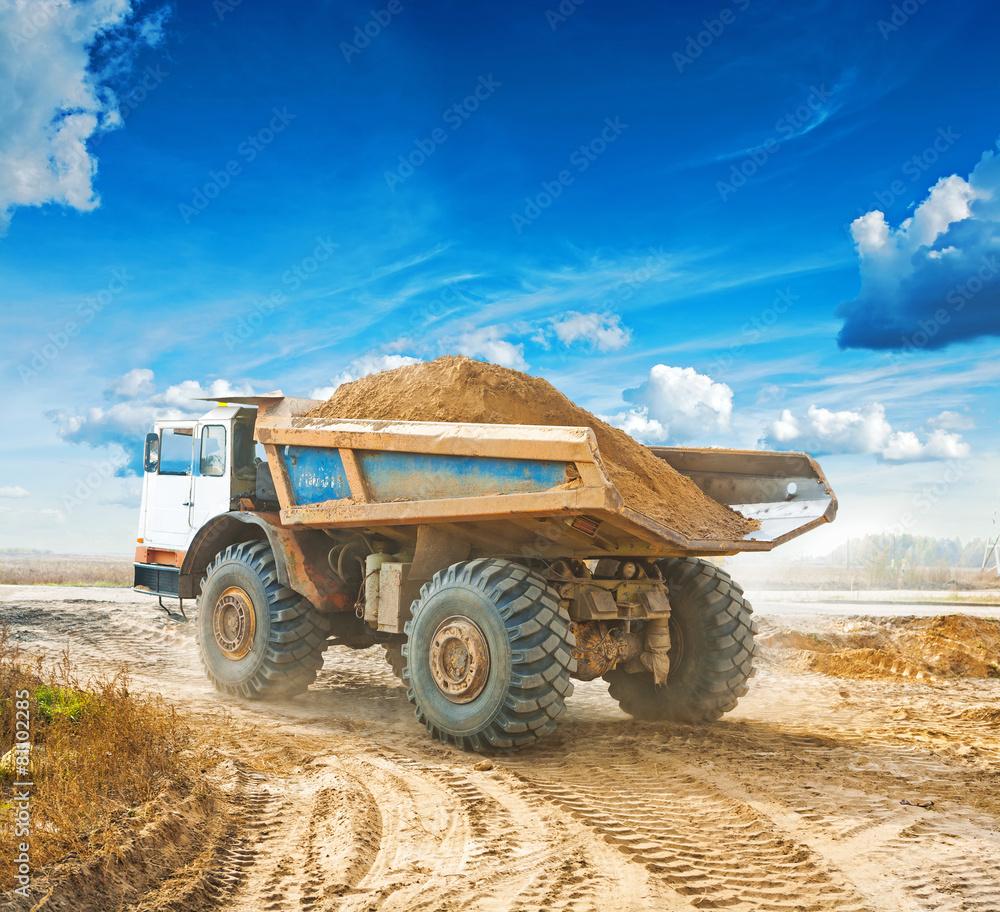samochód budowlanych duża - powiększenie