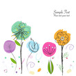 Decorative abstract flower vector background