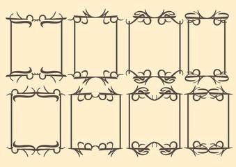 Vintage Vector Frames with decorative border design