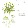 Spring butterfly floral dandelions greeting card