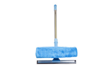 blue sponge mop with