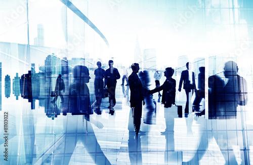 Leinwanddruck Bild Handshake Partnership Agreement Business People Concept