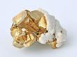 Leinwandbild Motiv Pyrite, pyrite single large cubes