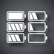 Battery icons set, vector illustration - 81103626