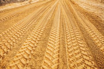 view traks on sand