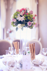 Wedding table beautifully decorated