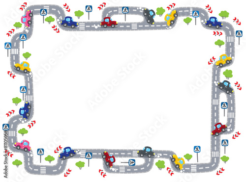 Frame with road - 81105058