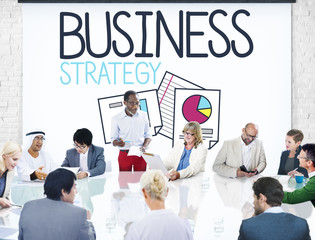 Business People Strategy Solution Analysis Meeting Concept