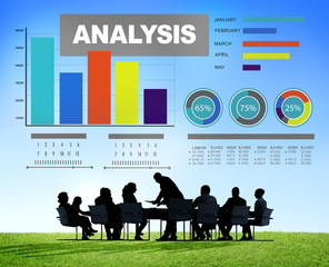 Analysis analyzing information bar graph data statisitc concept