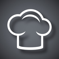 Vector chef cap icon