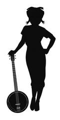 banjo in silhouette