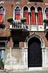 Italy, Venetian architecture, windows and door