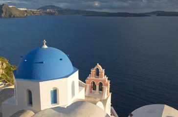 Oia's Church in Santorini island, Greece