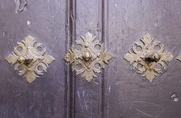 Old door with rivets