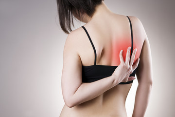 Pain in back of women