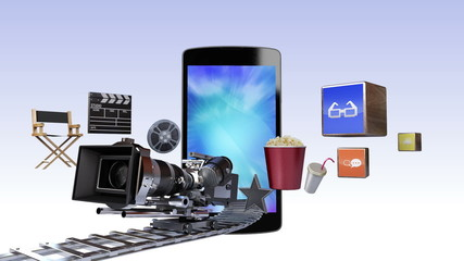 Smart Phone, contents for movie concept (included two alpha)