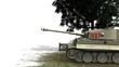Tiger German Battle Tank - on white background - 81108277
