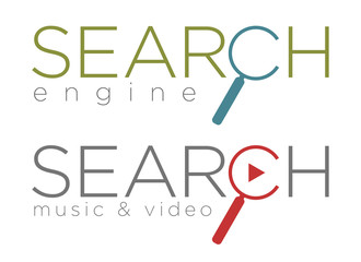Vector illustration of search engine icons