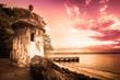 Leinwanddruck Bild - El Morro Old San Juan Puerto Rico at sunset