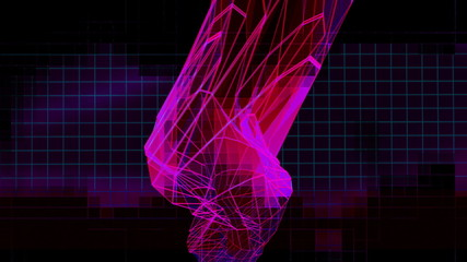 Looping VJ Low Poly Abstract VJ Mix Animated Background