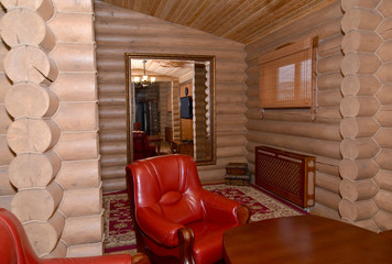 Sauna restroom interior fragment. Center of rest