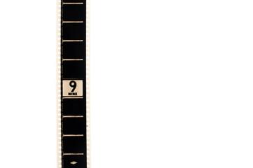 Number nine countdown movie filmstrip vertical and copyspace