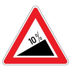 Slope %10 - Hazard Signs