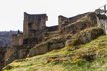Larochette castle in spring, Luxembourg