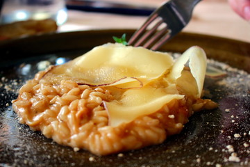 risotto funghi e formaggio