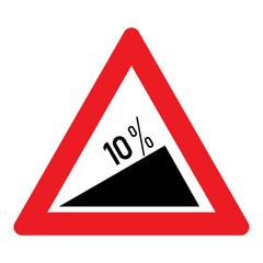 Slope %10 - Hazard Signs