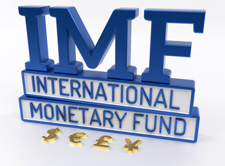 IMF - International Monetary Fund, World Bank - 3D Render