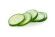 Fresh slice cucumber on white background - 81111683