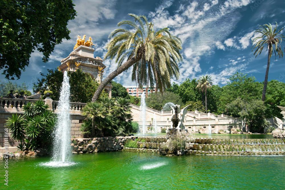hiszpania park katalonia - powiększenie