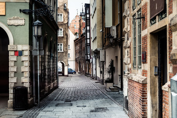 streets in Gdansk city