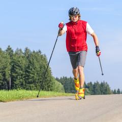 Langläufer beim Sommertraining