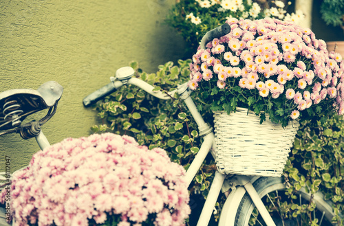 Aluminium Fiets bike with flowers