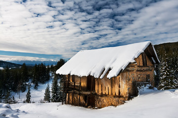Snowy Mountain Barn