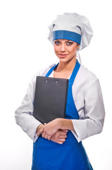 girl in clothes cook