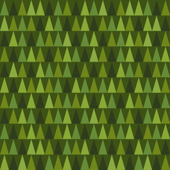 Green christmas tree seamless pattern background