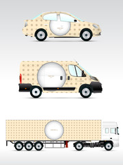Template vehicle for advertising, branding or corporate identity