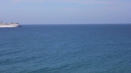 Cruise across the horizon of the sea