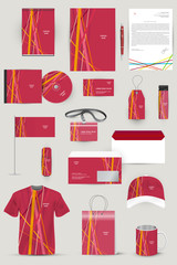 Collection of design elements for corporate identity business, a