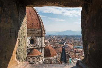 イタリア フィレンツェ ジョットの鐘楼から見るドゥオーモ