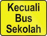 Except School Bus In Brunei poster