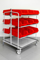 Supply red cart