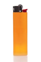 Orange cigarette lighter isolated