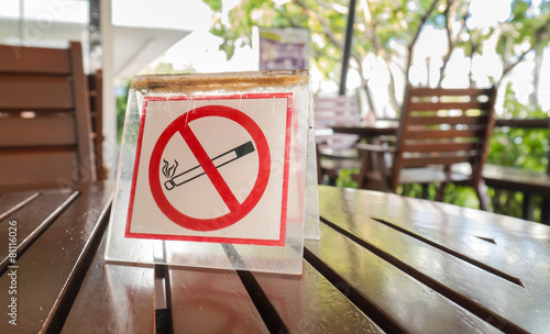 No smoking sign displayed